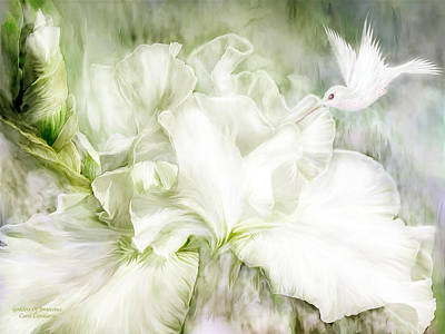 Irises Mixed Media - Goddess Of Innocence by Carol Cavalaris