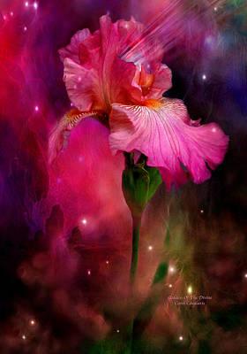 Irises Mixed Media - Goddess Of The Divine by Carol Cavalaris