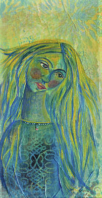 Daughter Mixed Media - Goddess Of The North Sea by Donna Blackhall