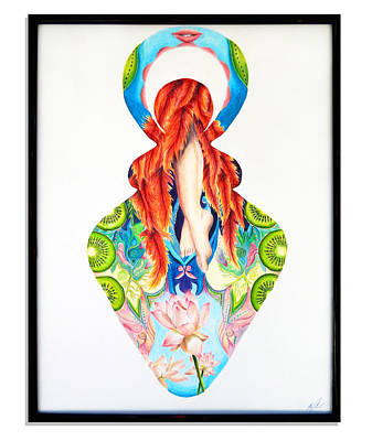 Goddess Sensual And Lively Original by Julia Cahill