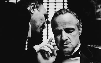 Advice Digital Art - Godfather Brando by Daniel Hagerman