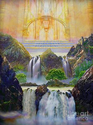 Throne Room Digital Art - God's Holy Hill by Todd L Thomas