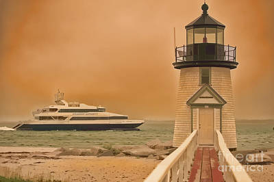 Godspeed At Brant Point Nantucket Island Original by Jack Torcello