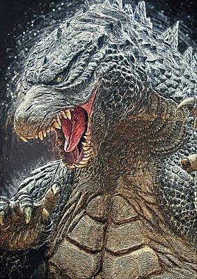 Godzilla - King Of Monsters Print by Taylan Soyturk