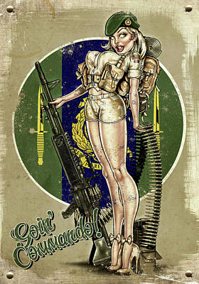 Goin Commando Print by Andy Screen
