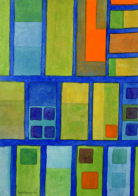 Grid Painting - Going For A Stroll by Heidi Capitaine