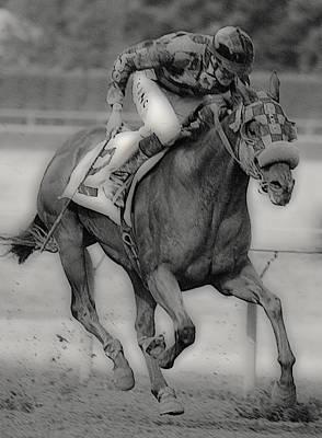 Quarter Horse Digital Art - Going For The Win by Lori Seaman