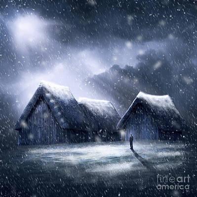 Going Home For Christmas Print by Svetlana Sewell