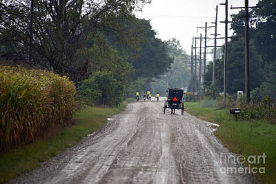 Amish Photograph - Going Home From School by David Arment