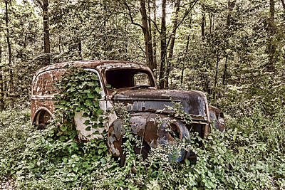 Antique Automobiles Photograph - Going Nowhere by Olivier Le Queinec