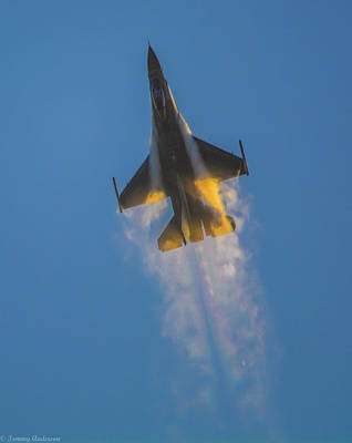 Photograph - Going Supersonic At Sunset 1 by Tommy Anderson