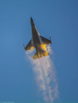 Photograph - Going Supersonic At Sunset 2 by Tommy Anderson