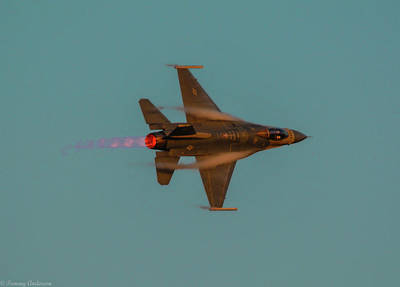 Photograph - Going Supersonic At Sunset 3 by Tommy Anderson