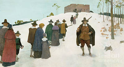 Going To Church Print by Newell Convers Wyeth