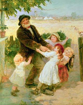 Old Village Painting - Going To The Fair by Frederick Morgan