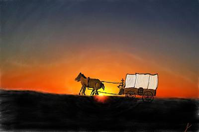 Going West Print by Jim Buchanan