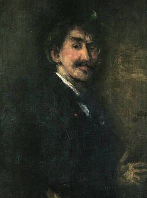 Whistler Painting - Gold And Brown Self Portrait by James Abbott McNeill Whistler