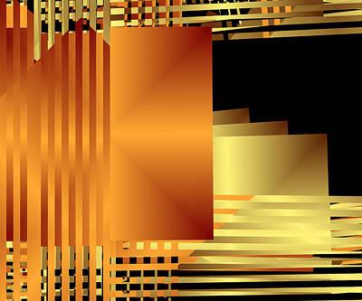 Layer Digital Art - Gold Bars I by Ruth Moratz