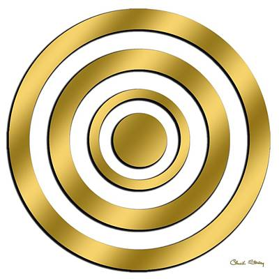Hand Crafted Digital Art - Gold Circles by Chuck Staley