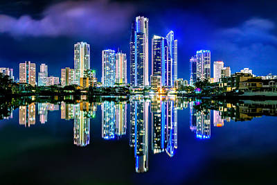 Gold Coast Reflections Print by Az Jackson