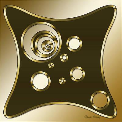 Digital Art - Gold Coffee 6 - Chuck Staley by Chuck Staley