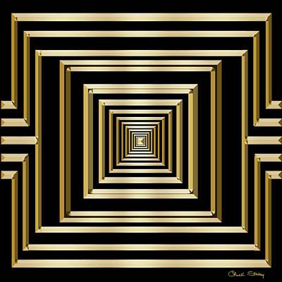 Digital Art - Gold Deco 7 - Chuck Staley by Chuck Staley
