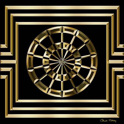 Digital Art - Gold Deco 8 - Chuck Staley by Chuck Staley