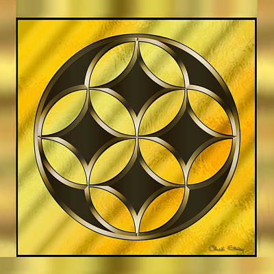 Hand Crafted Digital Art - Gold Design 12 - Chuck Staley by Chuck Staley