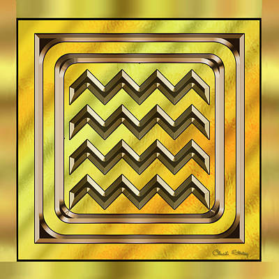 Hand Crafted Digital Art - Gold Design 22 - Chuck Staley by Chuck Staley