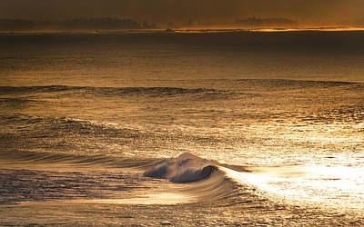 Abstract Seascape Photograph - Gold Dust by Sean Davey