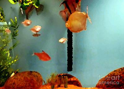 Goldfish Digital Art - Gold Fish Life by Don Baker