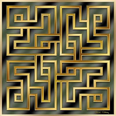 Digital Art - Gold Geo 7 - Chuck Staley by Chuck Staley