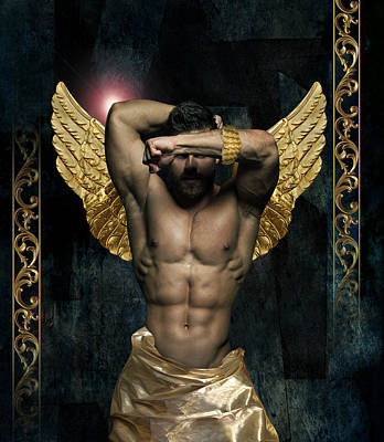 God Body Photograph - Gold Man  by Mark Ashkenazi