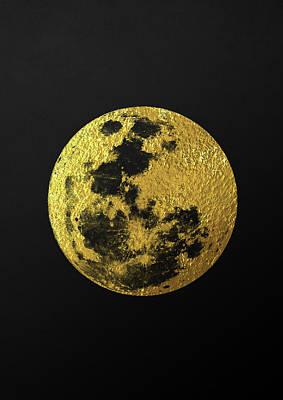 Gold Moon Print by Taylan Soyturk