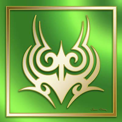 Digital Art - Gold On Green 2 - Chuck Staley by Chuck Staley