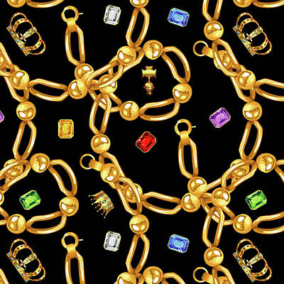 Cool Jewelry Photograph - Gold Party 3 by Mark Ashkenazi