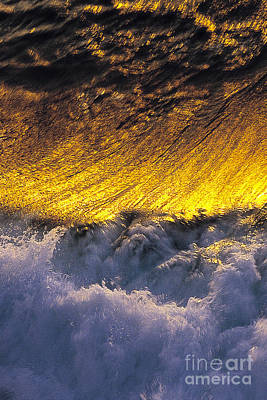 Gold Swirl  -  Part 1 Of 3 Print by Sean Davey