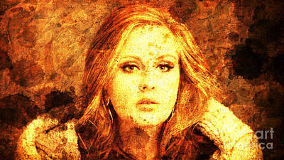 Adele Drawing - Golden Adele by Pablo Franchi