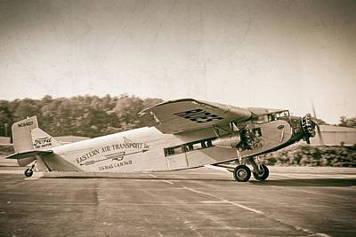 Golden Age Trimotor Print by Chris Buff