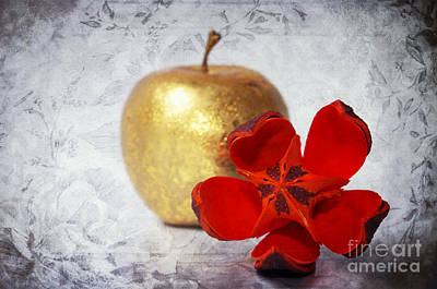 Golden Apple Print by Angela Doelling AD DESIGN Photo and PhotoArt