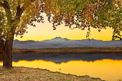 Golden Autumn Twin Peaks View Print by James BO  Insogna