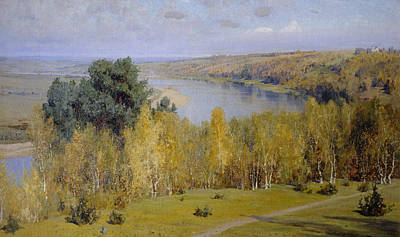 Fall Panorama Painting - Golden Autumn by Vasilij Dmitrievich Polenov