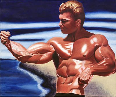 Bodybuilding Painting - Golden Boy by Arturo Castro