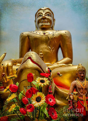 Flowers For Buddha  Print by Adrian Evans