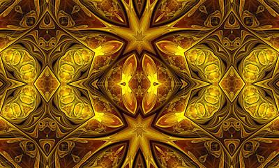 Abstract Digital Art - Golden Chalice - Graphic Design by Georgiana Romanovna