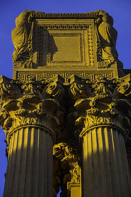 Classicism Photograph - Golden Columns Palace Of Fine Arts by Garry Gay