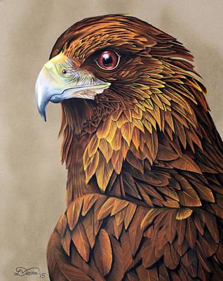 Golden Eagle Original by Virginia Simmons