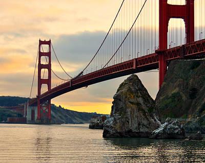 Golden Gate Bridge At Sunset Print by Pamela Rose Hawken