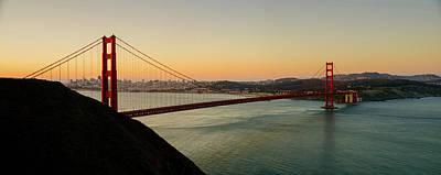 Historic Bridge Photograph - Golden Gate Bridge From The Headlands by Steve Gadomski