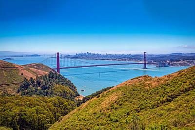 Presidio Park Photograph - Golden Gate Bridge by John M Bailey